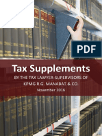 Tax Booklet as of 10 November 2016