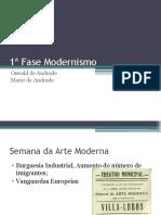 1ª Fase Modernismo