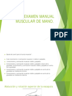Examen Manual Muscular de Mano