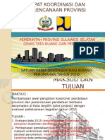 Rapat Koordinasi Dan Perencanaan Provinsi