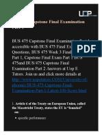BUS 475 Capstone Final Examination Part 1 Answers | BUS 475 Capstone Final Examination Part 1 - UOP E Tutors