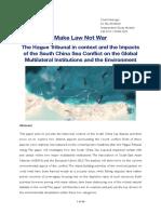 Make Law Not War