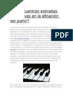 Se Encuentran Estiradas Las Octavas en La Afinación Del Piano