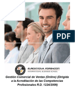 Gestión Comercial de Ventas (Online) (Dirigida a la Acreditación de las Competencias Profesionales R.D. 1224/2009)