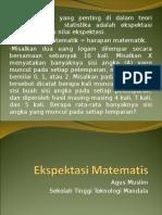 Definisi Ekspektasi Matematis Uas