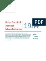 Butyl Carbitol Acetate Manufacturers