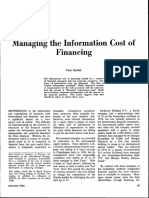 Managing the Information Cost of Financing