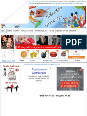 Planse De Colorat Cu Brad De Craciun