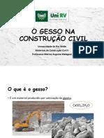 Aula 04 - Aglomerantes - Gesso Na Construção Civil