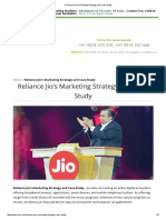 Reliance Jio's Marketing Strategy and Case Study