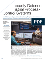 Cybersecurity Defense for Industrial Process-Control Systems