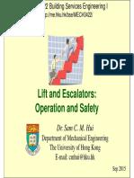 Lifts Escalators