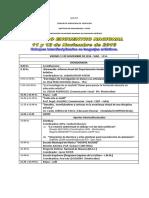 Cronograma Segundo Encuentro Nacional Depaeuart