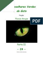 Cap. 24 - OS DESOLHARES VERDES DO GATO, por Pôncio Arrupe