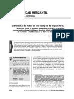 El Derecho de Autor en Los Tiempos de Grau. Reflexión sobre el régimen de la obra póstuma, el derecho conexo sobre obras inéditas en dominio público y la aplicación de la norma en el tiempo en el Derecho de Autor peruano