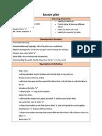 lesson plan letter a
