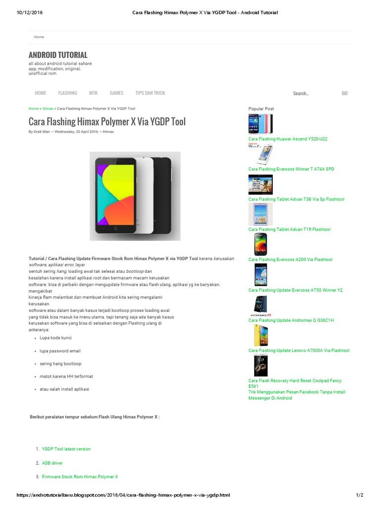 Cara Flashing Himax Polymer X via YGDP Tool - Android