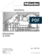 Miele G2432 Dishwasher Operating Instructions Manual