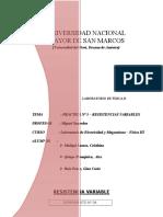INFORME N° 05 - RESISTENCIAS VARIABLES