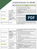 Tabela de Linhas de Pesquisa e Departamento 2015 (31!03!2014)