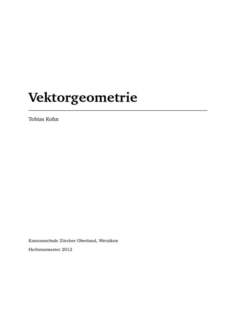 Vektorgeometrie Skipt Koln