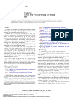 ASTM D2990-09 Tensile and Compressive Creep and Creep Rupture of Plastics