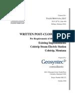 Colstrip CCR Post Closure Plan October 2016 12BFA