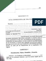 Acta Constitutiva de una Fundación