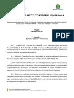 30. (OK) Estatuto IFPR