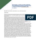Analisis Perbandingan Model Altman