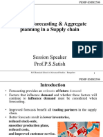 Session 9 - Demand Forecasting and Aggregate Planning