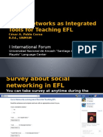 Social Networks as Integrated Tools for Teaching EFL
