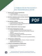 Psicologia Transpersonal Temario-Formacion