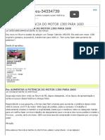 Aumentar a Potencia Do Motor 1300 Para 1600