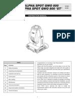 AlphaSpotQWO800 and ST Manual Rev.0 (10.12) En