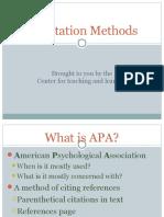 A Pa Citation Methods