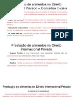 Prestação de alimentos no Direito Internacional Privado.pptx