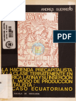 La Hacienda Precapitalista y La Clase Terrateniente
