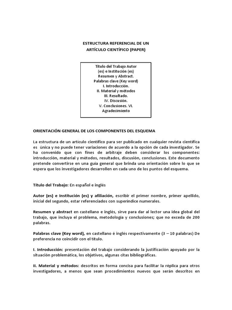 Estructura Básica Del Paper 3-1