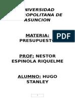 Universidad Metropolitana de Asuncion Presupuesto