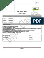 Aipmt Sample Paper 1 Question Paper