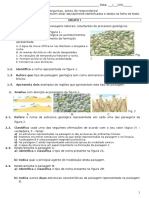 7ano - Ficha Global - Paisagens Geológicas, Minerais, Rochas Sedimentares