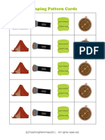 Camping Pattern Cards