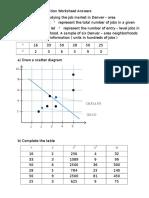 Coefficient of Determination Worksheet Answers (1)