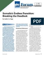 Somalia - Breaking the Deadlock