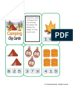 Camping Clip Cards