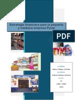 Estrategia Financiera Para La Mediana y Pequeña Empresa
