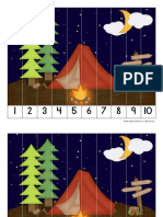 Number Order Puzzle- Camping