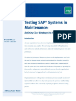 Testing SAP in a Maintenance Situation