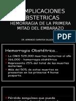 Complicaciones Obstetricas Hemorragias de La Primera Mitad Del Embarazo